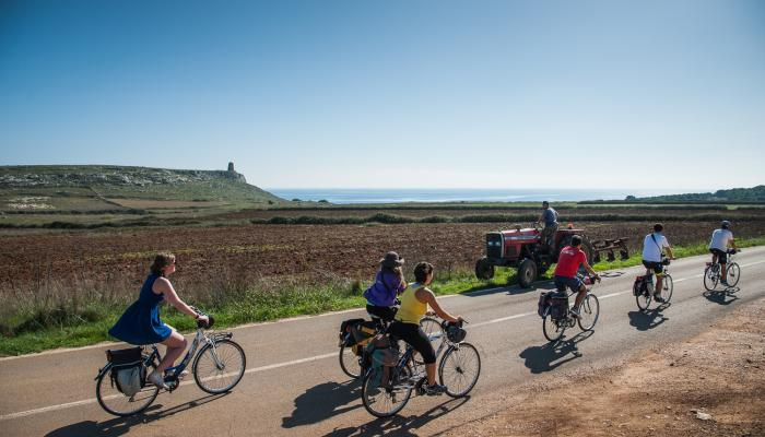 Cykeltur vidare till nästa destination